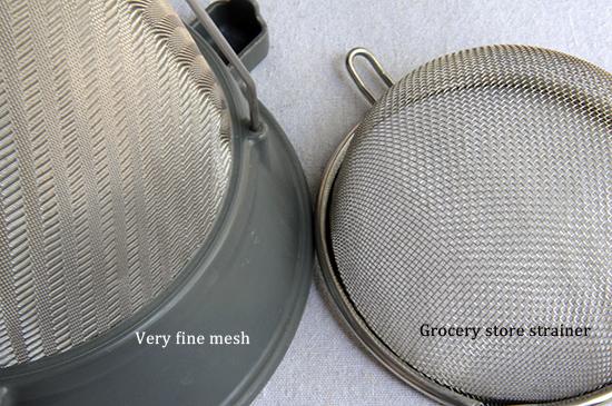 strainer mesh comparison