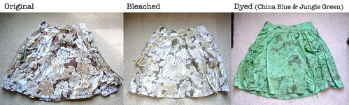 Skirt - Bleached & Dyed