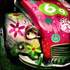 Peace&Love. (Jean-Marc Valladier) Tags: pink car wreck gettyimagesfranceq1