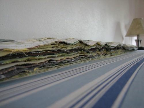 Queen-sized Line Art quilt