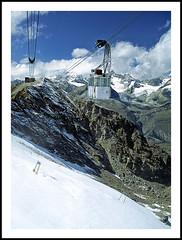 Riding the Stockhornbahn in the Swiss Alps - 1994 (sjb4photos) Tags: switzerland suisse schweiz swissalps stockhornbahn gornergrat epsonv500 novaphoto