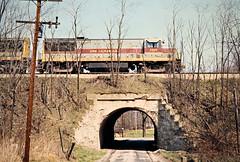 EL, Pavonia, Ohio, 1976 (railphotoart) Tags: ebconrail stillimage pavonia ohio unitedstates