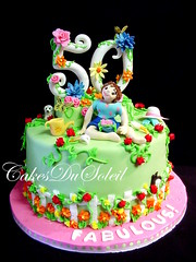 Fifty and well...Fabulous, of course! (JacqueBenson) Tags: fondant buttercream enchantedgarden sugarpaste cakesdusoleil fiftyandfabulous