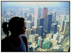 a view (onedayalive) Tags: toronto canada girl beautifulwoman amazingview canadian ontario city cities sunny sunshine