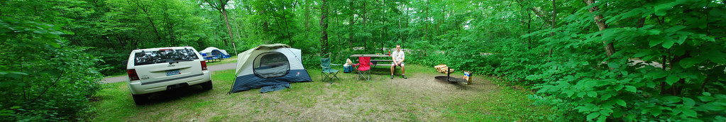 panorama of campsite