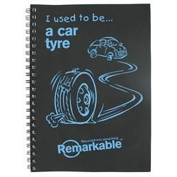 Black-tyre-notepad-with-Blue-graphics-A4