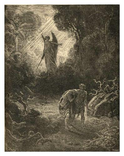 001-La expulsion del Jardin del Eden-Gustave Doré