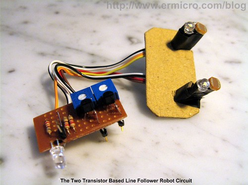 Build Your Own Transistor Based Mobile Line Follower Robot (01)