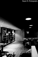 A Place to Read (Rayan M.) Tags: lighting blackandwhite bw coffee monochrome shop corner reading design sitting place interior room read saudi arabia hangout makkah                  havancafe