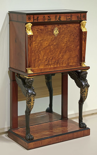 Fall-front desk, made by Charles-Joseph Lemarchand, French, ca. 1800-1805, at the Saint Louis Art Museum, in Saint Louis, Missouri, USA