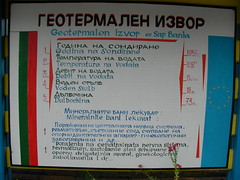 Sapareva Banya Hot Geyser Info Sign