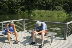 Judy and Dan - Pensive (ct_kayak) Tags: coldspring acm kleinert constitutionmarsh liquori danliquori rogerkleinert consitiutionmarsh