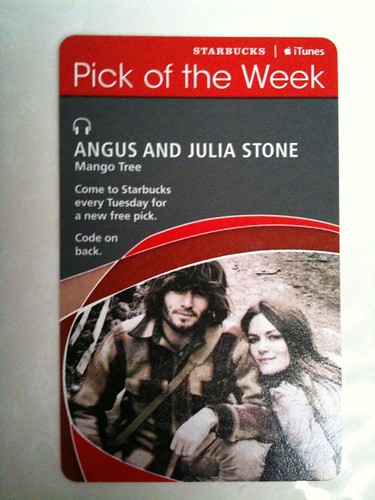 Starbucks iTunes Pick of the Week - Angus and Julia Stone - Mango Tree