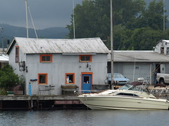 Old meets new... (wash52121) Tags: lake boat michigan superior boathouse marquette