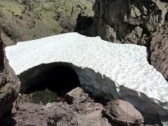 Campu di Vetta : le névé spéléo du couloir Sud du Tafonatu