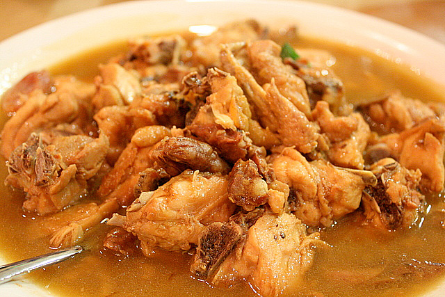 Stewed Chicken with waxed meats