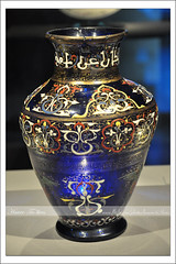 From Qatar Islamic Museum # 12,     -  ({ahradwani.com} Hawee Ta3kees- ) Tags: blue light stilllife art history glass museum nikon object collection ali vase hassan 2009 islamic doha qatar masterpieces   d90      18105mm museumofislamicart nikond90   fromqatar  qatarislamicmuseum   nikond90club nikon18105mm hawee 18105mmlens    qatarartmuseum  haweeta3kees   ta3kees ahradwanicom ahradwani