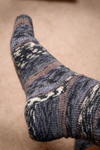 Handmade, knitted socks from Catherine.