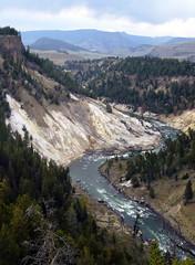 Calcite Springs Overlook (Julia Manzerova) Tags: panorama mountains beautiful river joy yellowstone breathtaking usnationalpark snaking calcitesprings calcitespringsoverlook