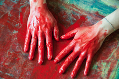 Les mains sales-40 (metatong) Tags: red color painting rouge blood hands acrylic hand main peinture killer murder dexter sang mains guilty murderer coupable acrylique tueur d300 redpaint meurtre meurtrier peinturerouge