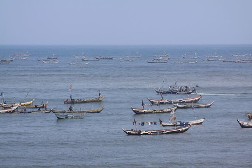 Fishing boats in Accra.