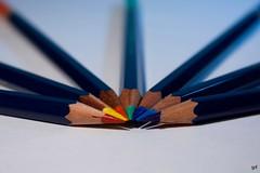 Rainbow (01) (Gonzalo ) Tags: iris colors arcoiris pencils canon eos rainbow bokeh estudio colores arco gf gonzalo lpices castell faber fraile 450d