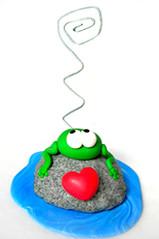 Rana portafoto (OfficineCreative) Tags: handmade frog polymerclay fimo rana cernit portafoto officinecreative