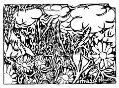 April Showers Bring Maze Flowers yfrimer 2006 Ink on Paper