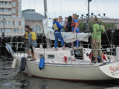 Strider and cruising students return from a camping trip.