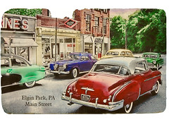 Postcard from Elgin Park (Theresa Thompson) Tags: vintage mainstreet postcard halftone faux elginpark 124scalemodels michaelpaulsmith