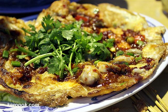 Sambal Oyster Omelette