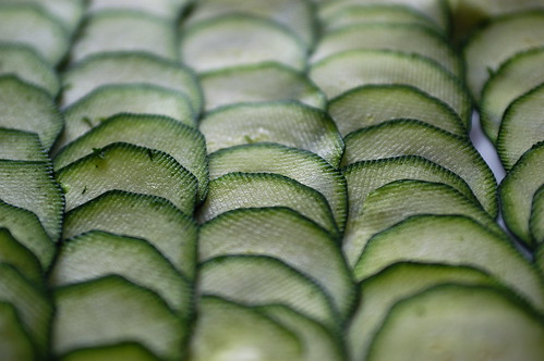 zucchini sliced for carpaccio