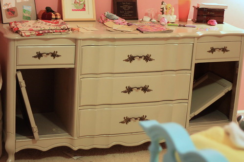 newly painted dresser