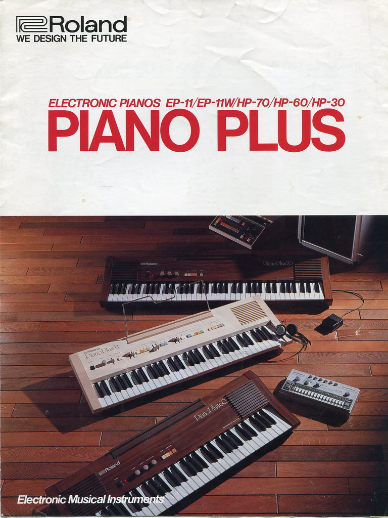 Roland Piano Plus series (front page of brochure 1982)