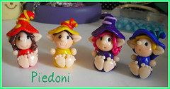 Folletti Piedoni (Bettina*) Tags: handmade fimo piedi folletti piedoni