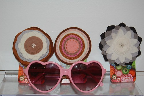 Felt Flower Pins and Lolita Sunglasses