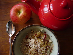 It's gone cold again! Time for porridge. (Shanti, shanti) Tags: cold apple breakfast porridge brazilnuts ocfd
