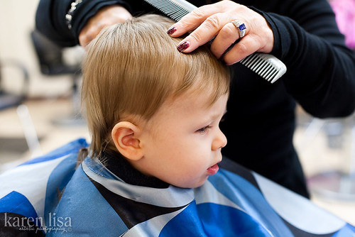 Zachary's first haircut