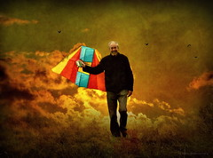 My dear Friend (h.koppdelaney) Tags: world life kite art digital photoshop fun child play heart symbol joy young philosophy inner mind imagination forever metaphor dimension consciousness symbolism psychology archetype graphicmaster