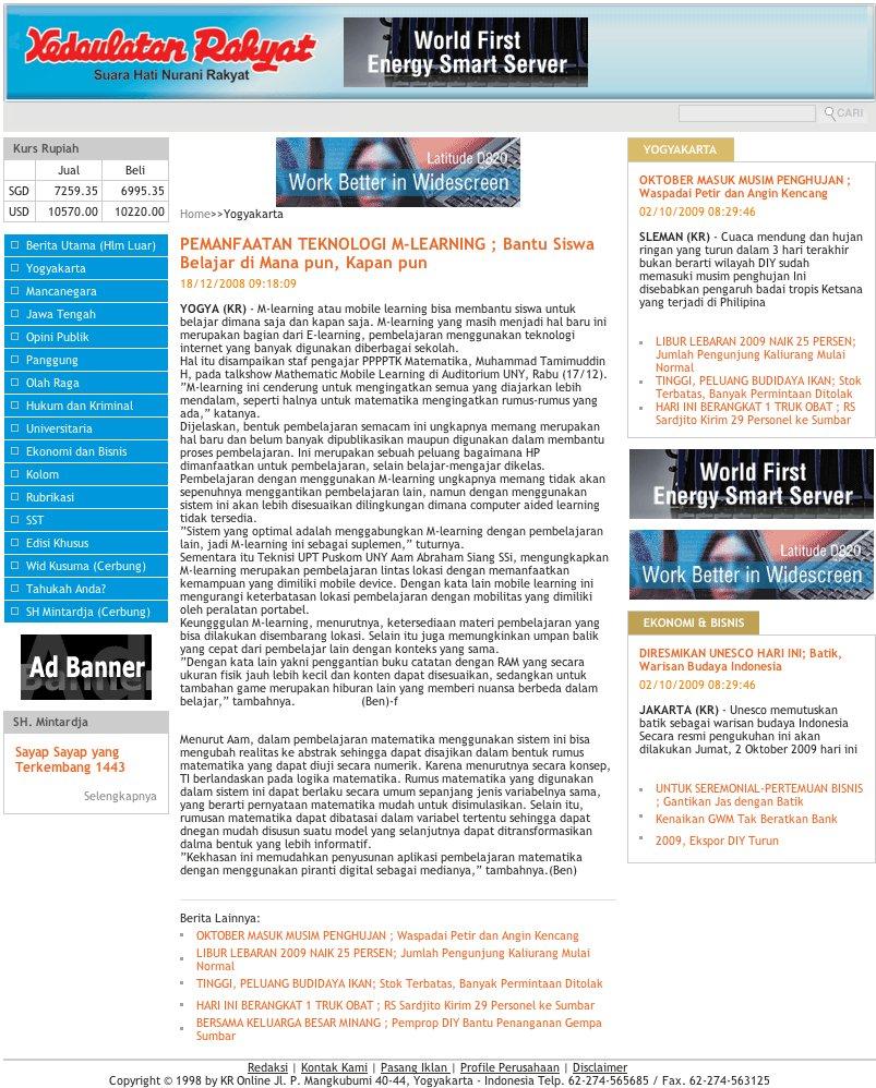 Mathematics Mobile Learning P4tk Matematika Dalam Liputan Media P4tkmatematika Org