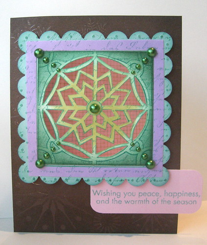 "Digi Window ""Snowflake"" Card"