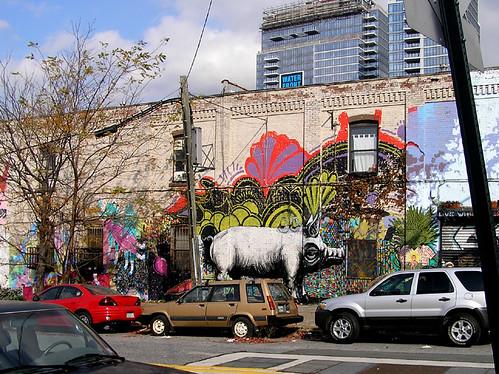 Piggy street art!