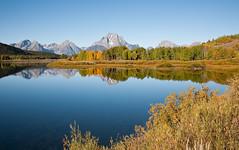 Autumn Morning - Oxbow Bend (mikebtin) Tags: travel mountains reflection wyoming grandtetonnationalpark oxbowbend