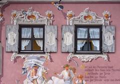 Finestre a Oberammergau (mammut2005) Tags: windows window architecture germany painting bavaria fenster oberbayern finestra architettura germania oberammergau lüftlmalerei finestre baviera frescoes urbanfragments frammentiurbani trompel'oeil top20bavaria top20bavaria20 dwwg