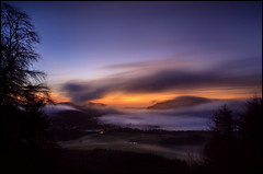 Dawn Dunkeld (angus clyne) Tags: wood morning trees cliff cloud mist color colour tree fog forest sunrise river dawn scotland woods hill perthshire tay craig loch dunkeld strathmore larch spruce beech athol birnam flikcr crag loversleap atholl inver kingsseat colorphotoaward birnamhill craigabarns polney strathbrann