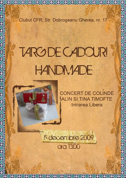 Targul de cadouri handmade organizat de Eta si Maria la Clubul CFR