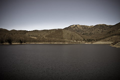 Bleak Water Dam (Skyworks) Tags: mountains water japan canon dam yamanashi lightroom skyworks     40d