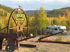 Chicken Alaska: Fall colors, Chicken Gold Camp (chicken gold camp) Tags: park camping chicken alaska gold rv park trip downtown gold world alaska top chicken caf town gold chicken vacation recreational panning alaska campground mining dredge cabins