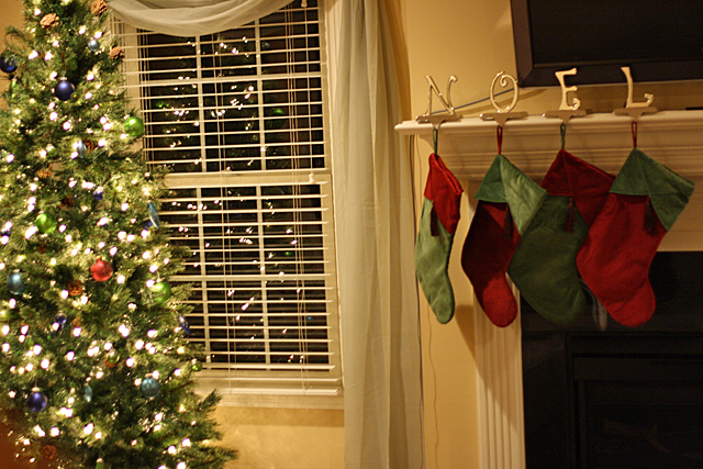 tree and stockings