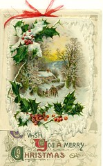 """To Wish You a Merry Christmas"" (reinap) Tags: christmas illustration postcard"